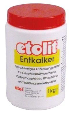 αφαλατικό etolit μορφή σκόνης περιεχόμενο 1kg για μηχανές καφέ, πλυντήρια πιάτων, μπόιλερ κ.λπ.