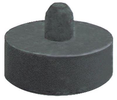 ποδαράκι ø 40mm H 15mm ø διάταξης στερέωσης 10mm συνολικό ύψος 28mm ελαστικό Ποσ. 1 τεμ.