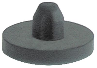 ποδαράκι ø 25mm H 4mm ø διάταξης στερέωσης 8,5mm συνολικό ύψος 13mm ελαστικό Ποσ. 1 τεμ.