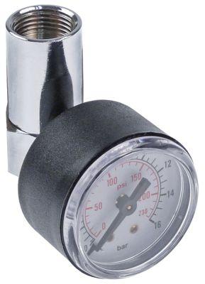 μανόμετρο μανόμετρο πίεσης δοκιμής εύρος πίεσης 0-16 bar ø 40mm