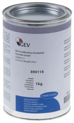 γράσο FERMIT  GLISSA  δοχείο 1000g  -20 έως +140°C έγκριση πληροί την οδηγία KTW