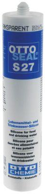 σιλικόνη S27  ασφαλές για τρόφιμα φύσιγγα 310ml διαφανές