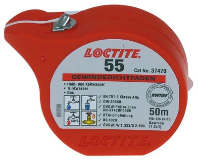 ταινία LOCTITE 55  Μ 50m -55 έως +130°C έγκριση DVGW, KTW, WRAS, NSF/ANSI