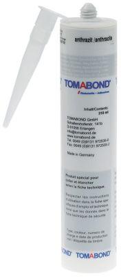 σιλικόνη υψηλής θερμοκρασίας TOMABOND TB76  -40 έως +250°C ανθρακί φύσιγγα 310ml