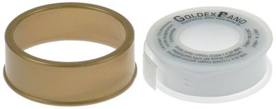 PTFE tape GOLDEX L 13,3m W 12,7mm -240 up to +260°C approval DIN-DVGW
