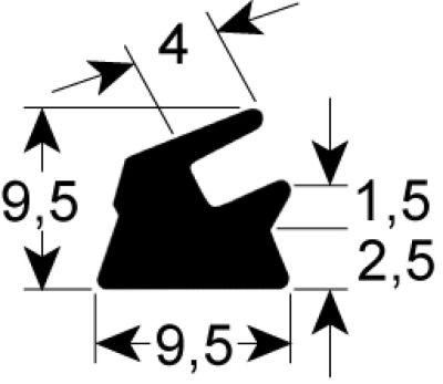 τσιμούχα W 9,5mm H 9mm Μ 2055mm Ποσ. 1 για μηχάνημα συσκευασίας με κενό