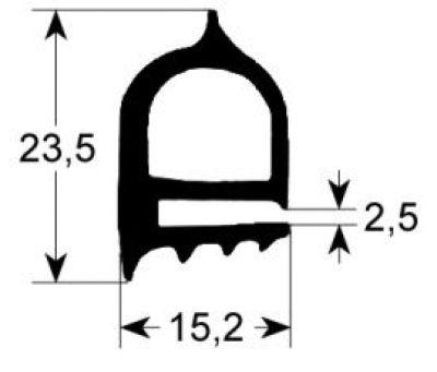 λάστιχο πόρτας προφίλ 2240 Ποσ. παρέχεται με το μέτρο