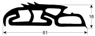 φλάντζα ραφιού δίσκων τρόλεϊ προφίλ 4100 Ποσ. παρέχεται με το μέτρο