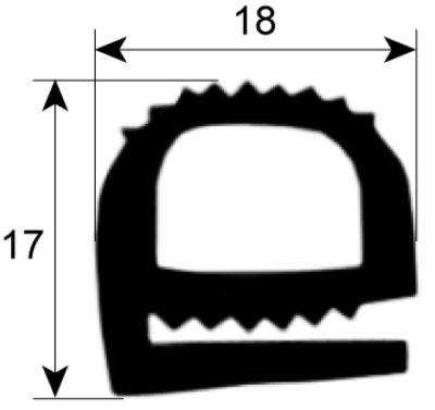 λάστιχο πόρτας προφίλ 2257 Ποσ. παρέχεται με το μέτρο σκούρο μπλε σιλικόνη