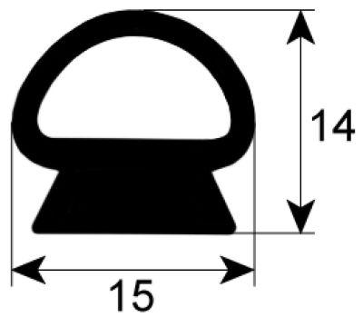 λάστιχο πόρτας προφίλ 2435 Ποσ. παρέχεται με το μέτρο