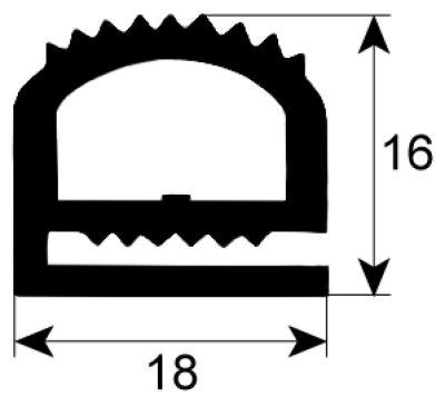 λάστιχο προφίλ 9170 W  -mm Μ  -mm εξωτερικό μέγεθος Ποσ. παρέχεται με το μέτρο