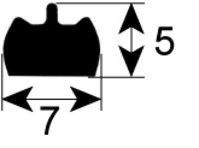 τσιμούχα για πίνακα ελέγχου Μ 2000mm αφρός λατέξ αυτοκόλλητο