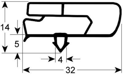 λάστιχο προφίλ 9797 W 355mm Μ 435mm μέγεθος βύσματος