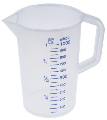 κύπελλο μέτρησης 1l πλαστικό