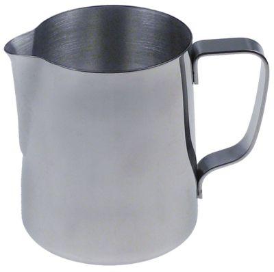 κανάτα για γάλα ανοξείδωτος χάλυβας χωρητικότητα 0,35l ø 79mm H 95mm χωρητικότητα 12oz