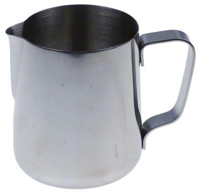 κανάτα για γάλα ανοξείδωτος χάλυβας  - χωρητικότητα 0,6l ø 90mm H 108mm χωρητικότητα 20oz