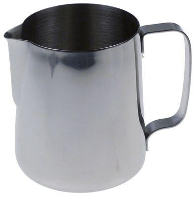 κανάτα για γάλα ανοξείδωτος χάλυβας χωρητικότητα 0,9l ø 105mm H 124mm