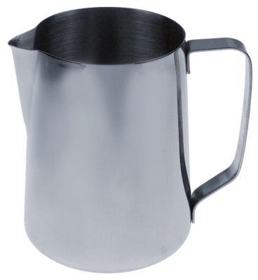 κανάτα για γάλα ανοξείδωτος χάλυβας χωρητικότητα 1,5l ø 122mm H 160mm