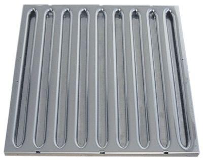 φίλτρο διαφράγματος για ηλεκτρικούς απορροφητήρες W 398mm H 398mm πάχος 20mm Ανοξείδωτο ατσάλι