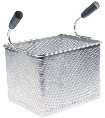 καλάθι ζυμαρικών Μ1 240mm Π1 290mm H1 200mm H2 340mm ανοξείδωτος χάλυβας