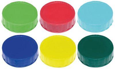 καπάκι βιδωτό σετ 6 χρωμάτων