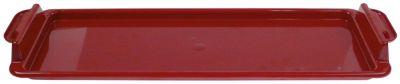 δίσκος για ψίχουλα πλαστικό W 216mm Μ 648mm H 54mm για UHC κόκκινο