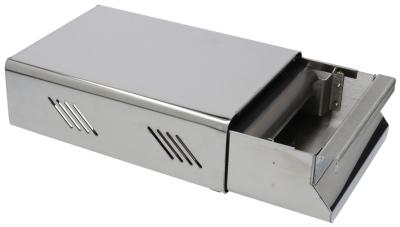 συρτάρι καφέ W 250mm D 180mm H 90mm ανοξείδωτος χάλυβας