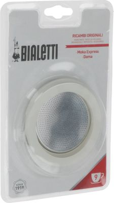 gasket set BIALETTI 3 gaskets 1 filter cups 9 manuf. no.