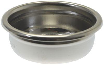 φίλτρο καφέ ø 70mm ø διάταξης στερέωσης 58mm H 24,5mm κύπελλα 2 ποσότητα καφέ 18g