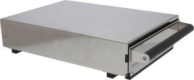 συρτάρι καφέ W 320mm D 450mm H 105mm ανοξείδωτος χάλυβας