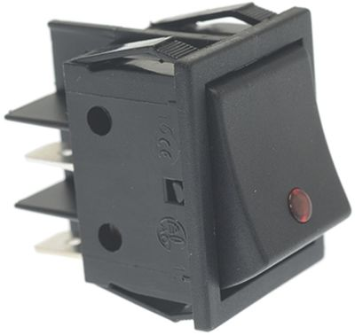 διακόπτης BLACK BIPOLAR SWITCH 16A 250V