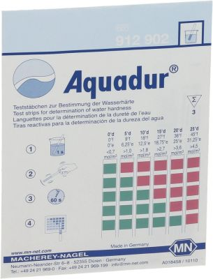 control strip water hardness (German) water hardness (French) Qty 3 pcs
